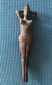 HAND CARVED HARD WOOD- FEMALE - NUT CRACKER