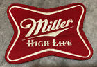 """LARGE VINTAGE MILLER HIGH LIFE PATCH SEW ON PATCHES 8""""X6"""" BEER LITE UNUSED NEW"""