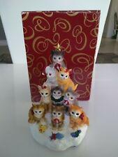 "San francisco music box company cats ""we wish you a merry christmas"""