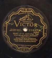 Johnny Hamp on 78 rpm Victor 21632: What D'Ya Say?/Blue Shadows; Cond V-