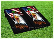 American Flag Bald Eagle Cornhole Beanbag Toss Game w Bags Game Boards S 01408