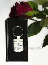 Engraved CALENDAR design The day you became my ..- personalised - Metal - BOXED