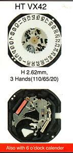 HTVX42 VX43 VX45 VX46 VX42/6 watch battery works quartz movement moduel complete