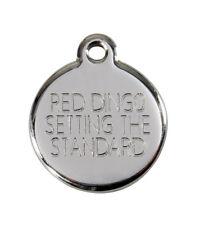 Medaille Petit Chien ou Chat 2cm Red Dingo Motif Trefle a 4 feuilles