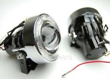 "Add on 3"" White Angel Eyes Bumper Projector Round Fog Light Lamp"