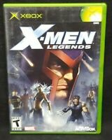 X-Men Legends  - Original Microsoft Xbox Game Complete 1 Owner Near Mint Disc