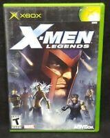 X-Men Legends  - Original Microsoft Xbox Game Complete 1 Owner Near Mint Disc