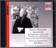 Tatiana NIKOLAYEVA & Kurt MASUR: TCHAIKOVSKY Piano Concerto 1 CD Klavierkonzert