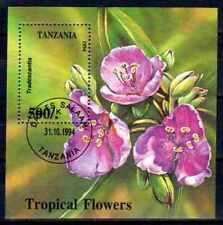 Fleurs -Tanzanie (154) bloc oblitéré