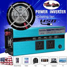 New listing Sale! 1500W Car Power Inverter 12V To 110V Modified Sine Wave Converter Adapter