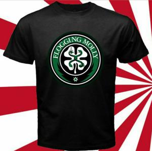 The Flogging Molly Logo Irish Celtic Men's Black T-Shirt Vintage Men Gift Tee