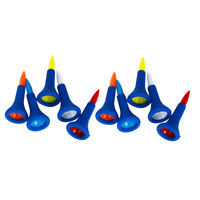 10 Pieces/Set Soft Rubber Cushion Top Golf Tees Random Color Short