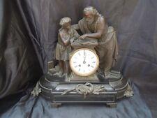 Pendule marbre sculpture sujet apotre enfant bronze d'époque napoleon III 19 ème
