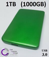 DISCO rigido esterno 1 TB (1000 GB) - PC o MAC-Custom verde da OCG-Plug & Play
