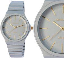 Damenuhr Quarz analog Armbanduhr edel matt metallic Blau Gold 1800173 Excellanc