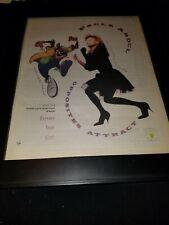 Paula Abdul Opposites Attract Rare Original Radio Promo Poster Ad Framed!