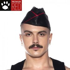 Prowler RED Triangle Cap Black/Red SMALL Leather Retro Military Look