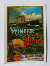 Royal Mail Steam Packet Co Advertising West Indies Vintage colour Postcard 1970s