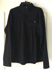 Preowned Victorinox Long Sleeve Fleece Black Mens Size Xl Half Zip