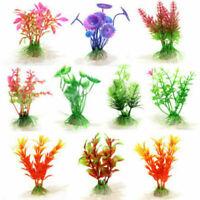 10pcs Pianta Artificiale per Acquario Decorazione Finte Plastica Colorate