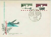 Poland 1963 FDC Plane + Missile Launcher Bird Cancel FDC Stamps Cover ref R18822