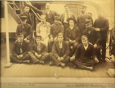 1890s FALLS OF HALLADALE SCOTTISH SHIP CAPTAIN & CREW PHOTO - SAN FRANCISCO CAL.