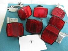 Set of seven old bicycle reflectors, set #9