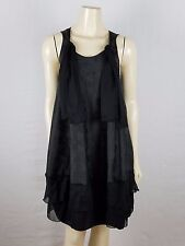 MAUDE Mini Sleeveless Black Tunic Dress size Medium