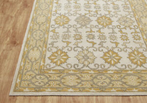 Tabitha Gold  Oriental Oushak Floral Hand-Tufted 100% Wool Soft Area Rug Carpet