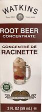 Watkins Racine Bière Concentré Extrait 59ml USA Kascher Frais sans Ogm Gluten