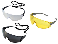 UCI I707 Solomon Safety Glasses Eye Protection Clear & Smoke - 1,6 or 12 Pairs