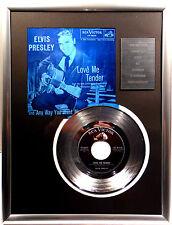 "1 ELVIS PRESLEY - Love me Tender 7"" Platin Schallplatte RCA Record ( goldene )"