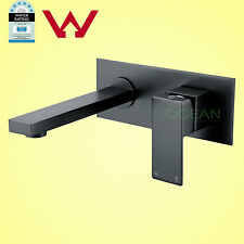 Matt Black Square Bathtub Faucet Bath Spout Basin Mixer Water Outlet Wall Tap