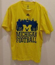 Addidas Größe Large NCAA Michigan Football T-Shirt 2014 BO schembechler Zitat