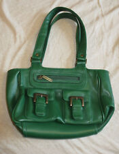 Warehouse womens teen lovely green leather or leather style smaller size handbag