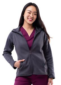 Adar Pro Scrubs For Women - Bonded Fleece Scrub Warm-Up Jacket