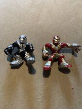 Marvel Super Hero Squad ARMORED SPIDER-MAN Silver Armor Wave 12 + Bonus Ironman!