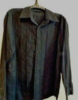 AXIST City Dressing Long Sleeve Button Down Black Shirt Size XL