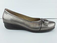 ECCO ABELONE Women's Warm Gold Metallic Leather Slip-On Flat US 8-8.5 F6 120