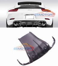VRS Style Carbon Fiber Rear Diffuser For Porsche 911 991 S Models 12+ T067