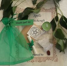 Wealth  Spell Kit  Votive Candle  Magic Wicca Created by a Witch