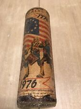 Rare 1777 - 1976 Bicentennial Large Used Candle July 4th Celebration