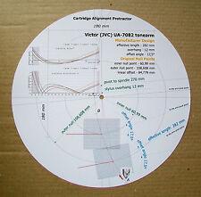 VICTOR (JVC) ua-7082 personalizzato progettato PHONO CARTRIDGE Stylus Goniometro tracciato