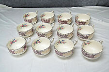 Set of 12 Crooksville China Co Footed Cups - Floral Design (M4084)