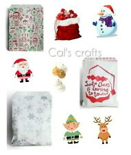 More details for  christmas characters paper counter bags santa snowflake christmas party 2 sizes