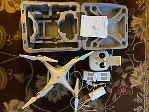 DJI Phantom 4 standard with case, extra battery, and extra set of propellers