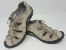 Privo Clarks Womens 7 M Water Shoes Leather Bungee Tie Trail Creek Lake Fishing