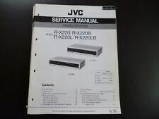 Original Service Manual JVC R-X220 R-X220B R-X220L R-X220LB
