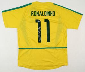 "Ronaldinho Signed BRAZIL Jersey Inscribed ""R10"" Beckett COA"