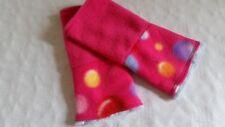 Pulswärmer Armstulpen Fleece Punkte Kreise Dots handmade pink hellblau bunt S M